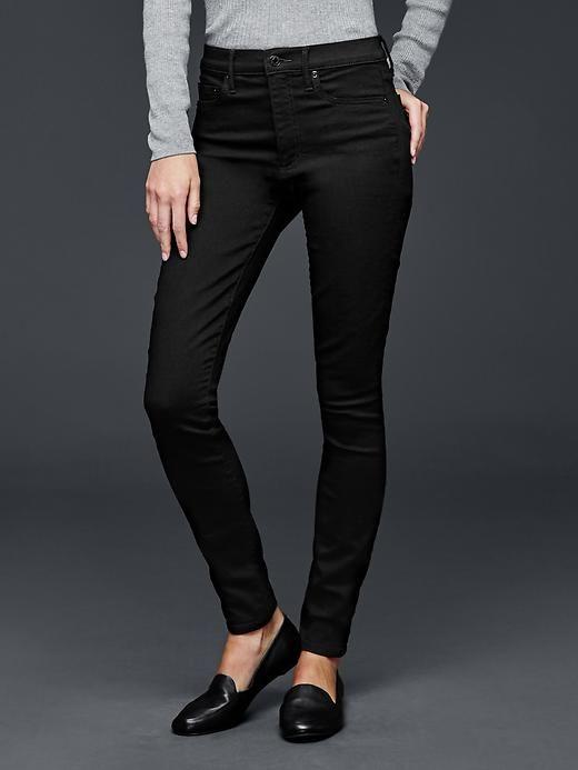 1969 Size Skinny Resolution True Rise 30 Jeans Black High Gap rrvpAT