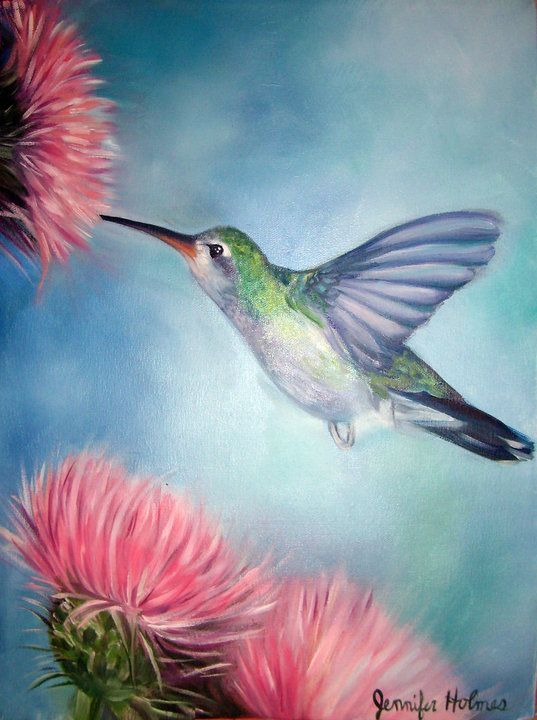 humming bird oil on canvas arts pinterest malerei v gel und kunst. Black Bedroom Furniture Sets. Home Design Ideas