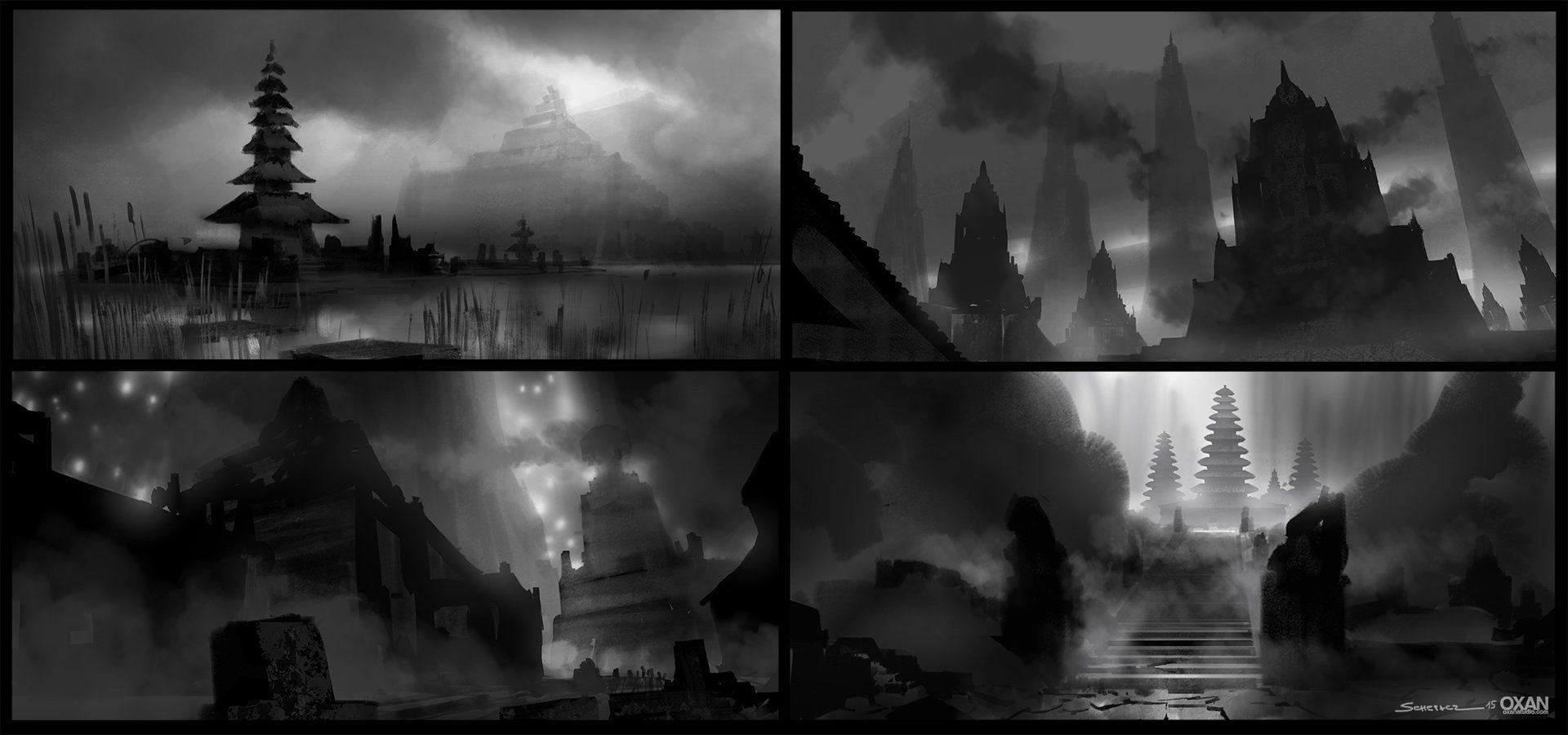 ArtStation - Lost worlds - Environment Thumbnails , Yohann Schepacz OXAN STUDIO
