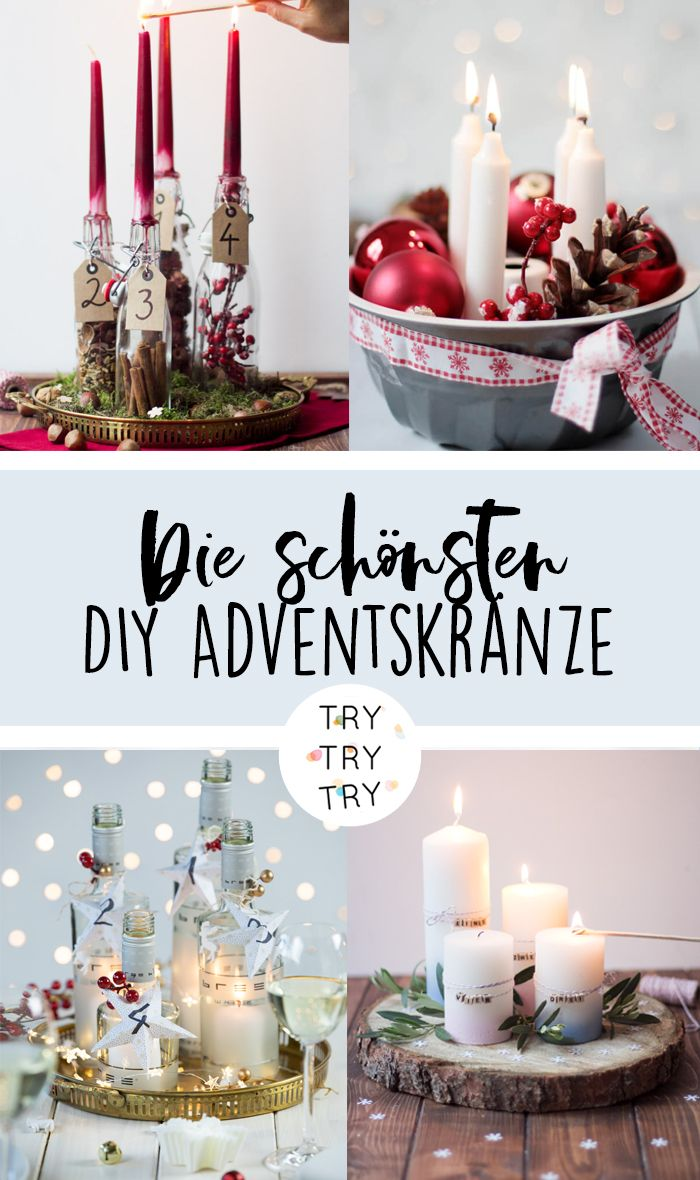 die sch nsten diy adventskr nze adventskranz advent. Black Bedroom Furniture Sets. Home Design Ideas