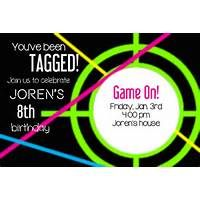 photograph about Laser Tag Invitations Free Printable named Laser Tag Bash Invites Template Absolutely free maura in just 2019