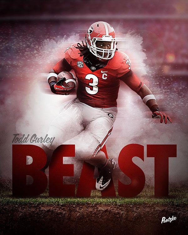 Beast Todd Gurley On Behance Georgia Bulldogs Football Georgia Dawgs Bulldogs Football