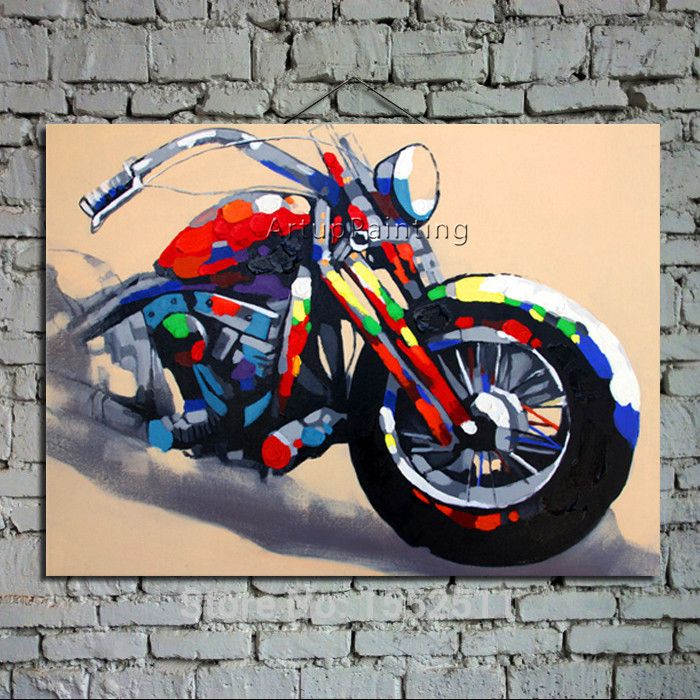 Motorcycle Motorbike Painting Home Decor Home Decoration Oil Painting Wall  Pictures For Living Room Wall Art