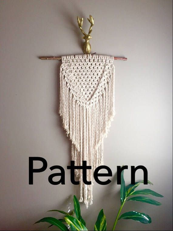 joan of arc macramé pattern beginner pdf diy wall hanging on wall hangings id=55175