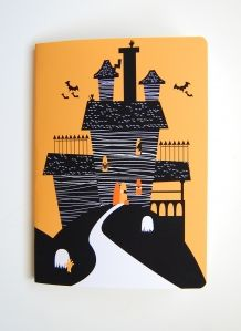 Halloween haunted house notebook by @themagicjar