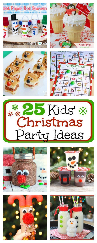 25 Kids Christmas Party Ideas FunSquared Kindergarten