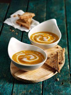 Rezept für eine vegane Kürbissuppe.  #vegan, #glutenfrei