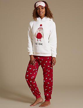 Round Robin Fleece Hooded Pyjamas  09452e523