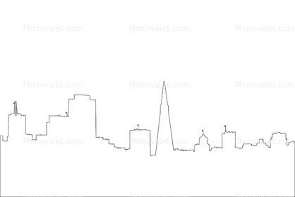 san francisco skyline outline line drawing shape doodles
