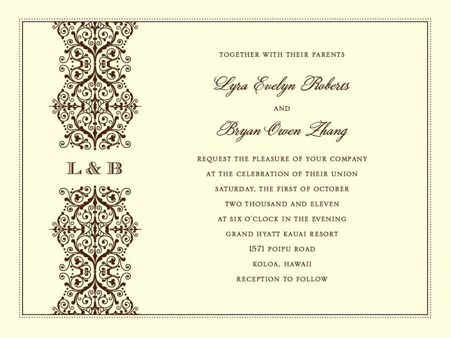 Love the monogram in between the design! Wedding Invitations, Bridal ...