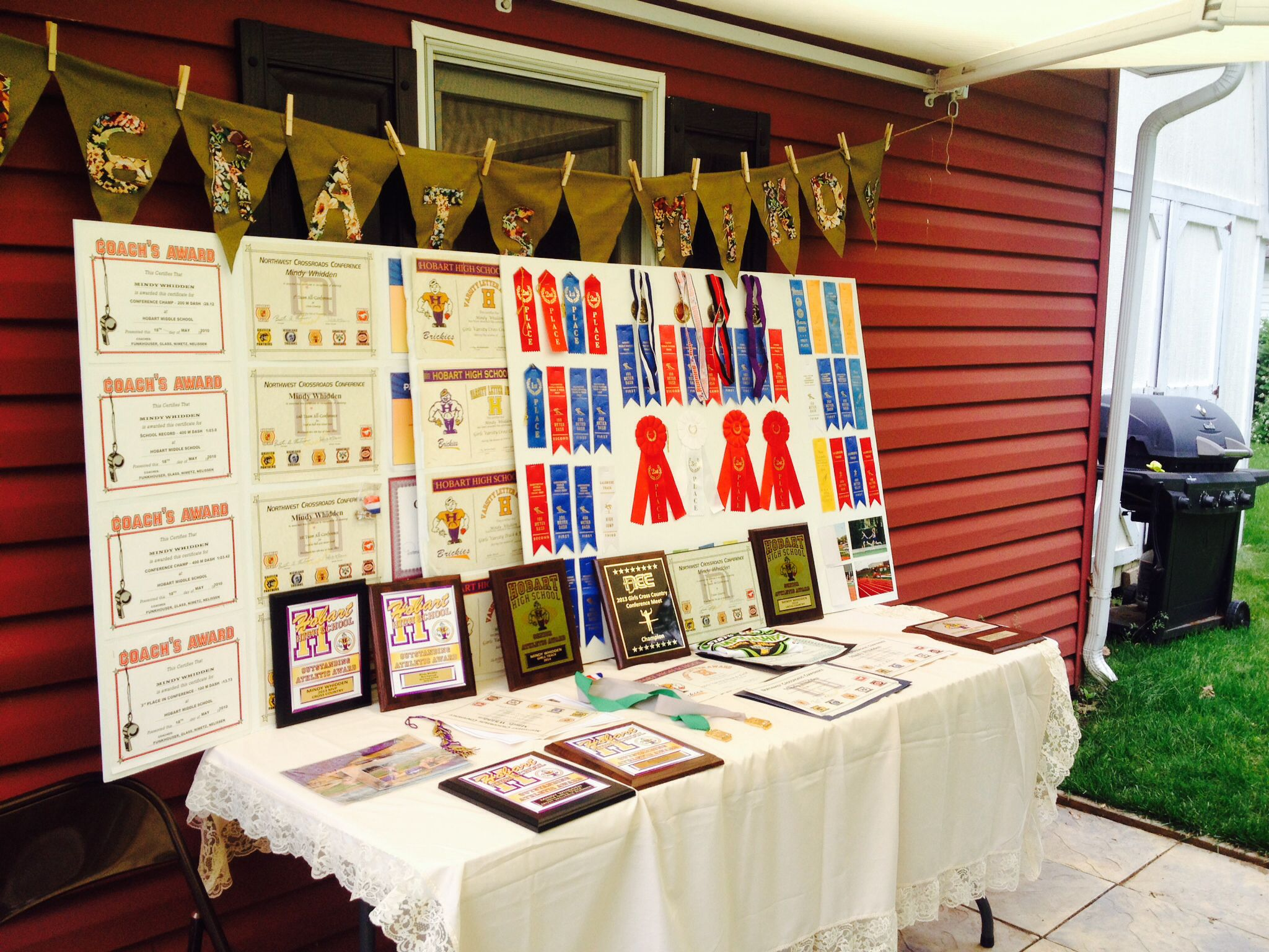 Graduation Award Display Table