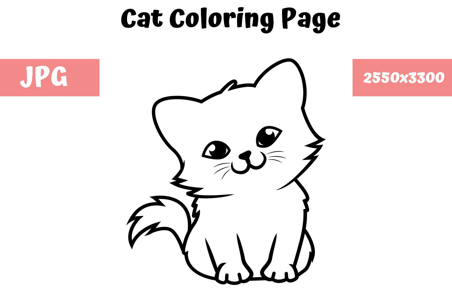 Pin On Cat Coloring Book