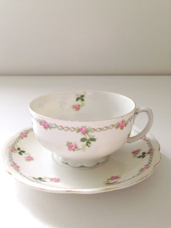Vintage Mz Austria Tea Cup And Saucer Cottage By Mariasfarmhouse