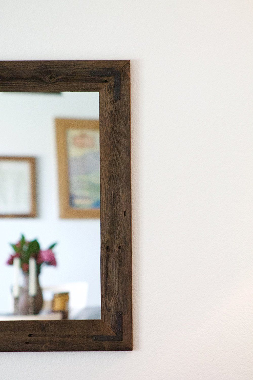 Rustic wall mirror large wall mirror 42 x 30 vanity mirror bathroom mirror rustic mirror reclaimed wood mirror bathroom vanity click on the