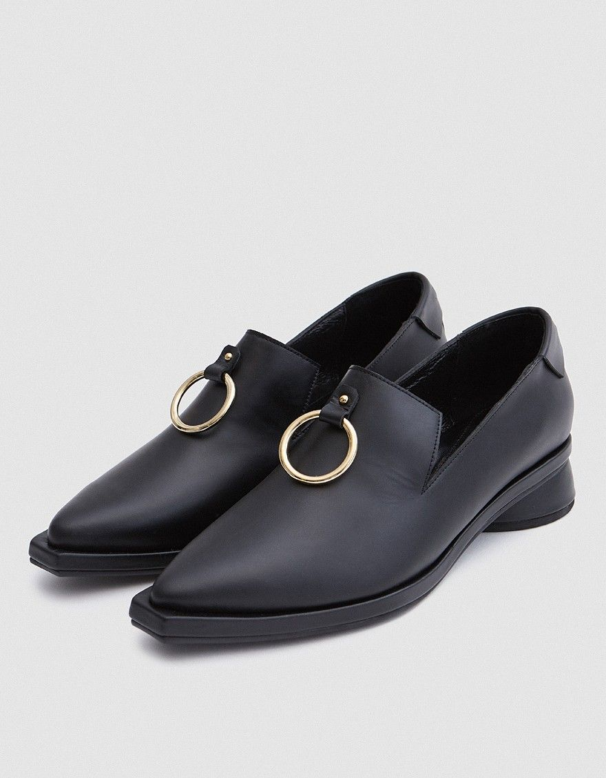 Reike Nen Leather Pointed-Toe Loafers purchase for sale da0nv