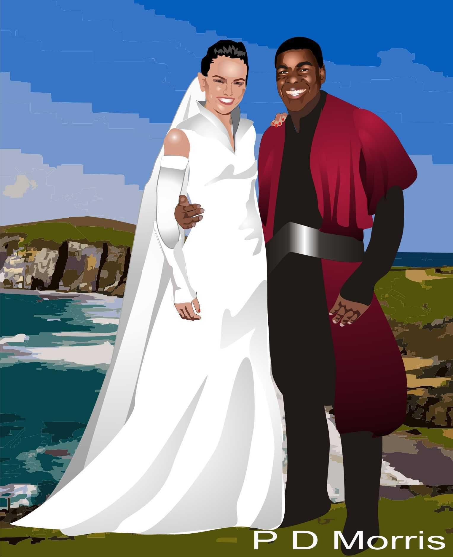 Finn And Rey Of Star Wars Wedding Star Wars Wedding Star Wars Stars