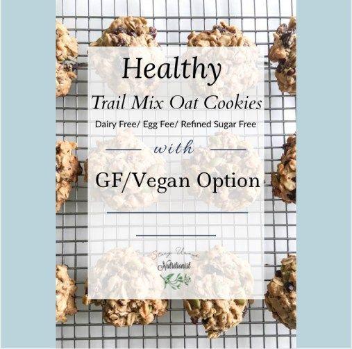 Trail Mix Oat Cookies