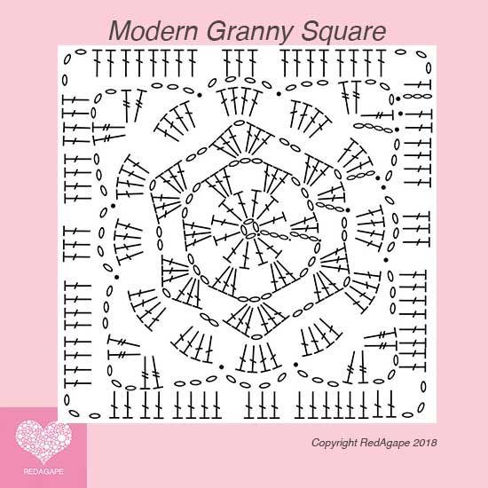 Modern Granny Square – Square 7 of the