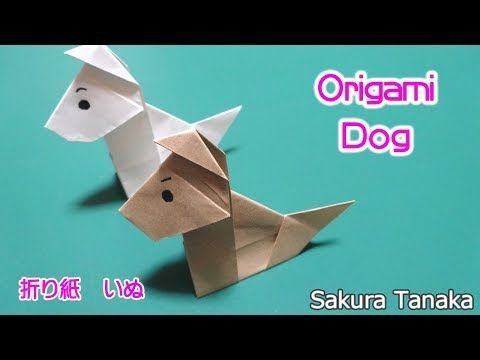 origami dog ae a c c ae a ae youtube