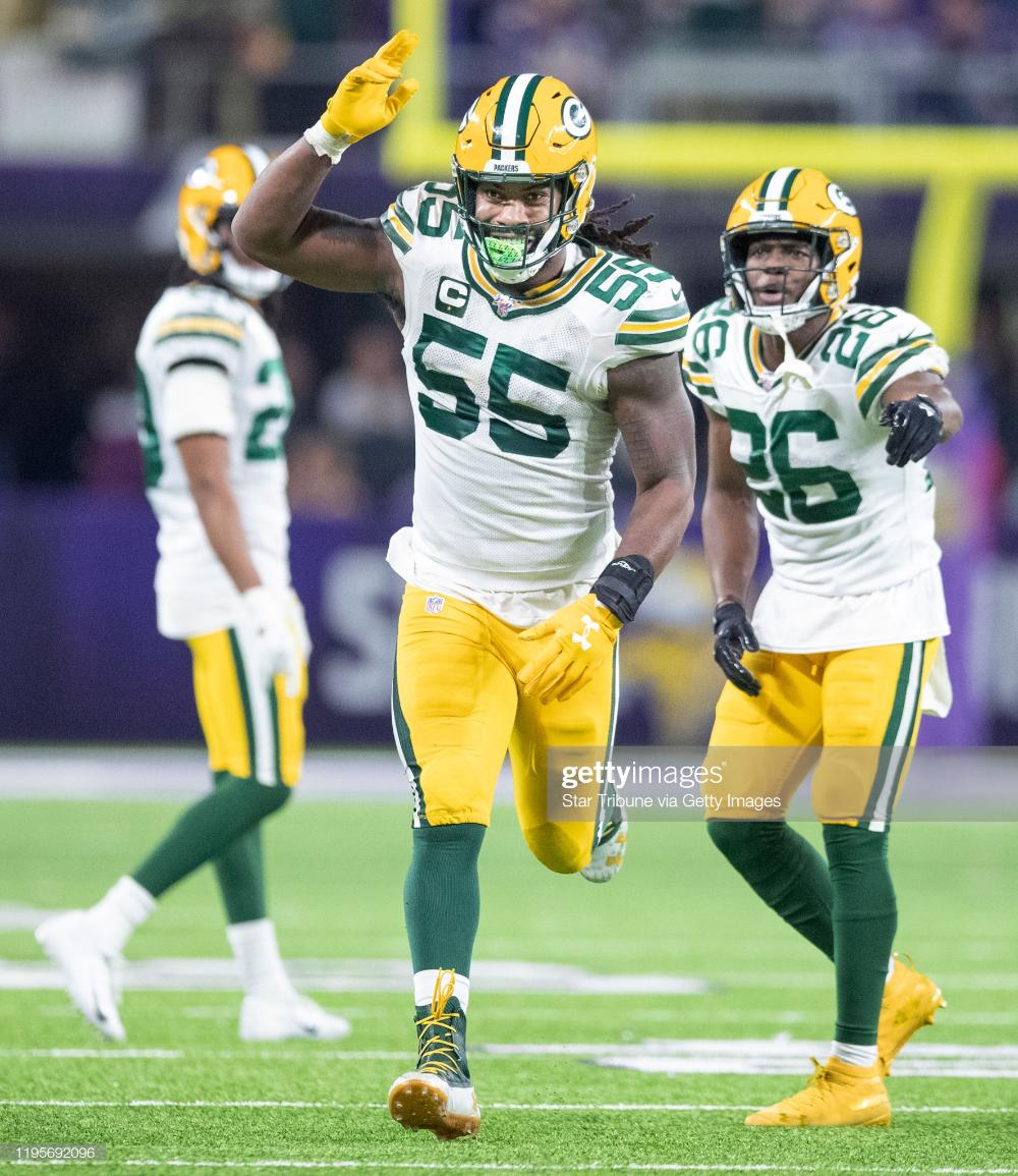 Green Bay Packers Outside Linebacker Za Darius Smith Celebrated His Green Bay Packers Green Bay Packers