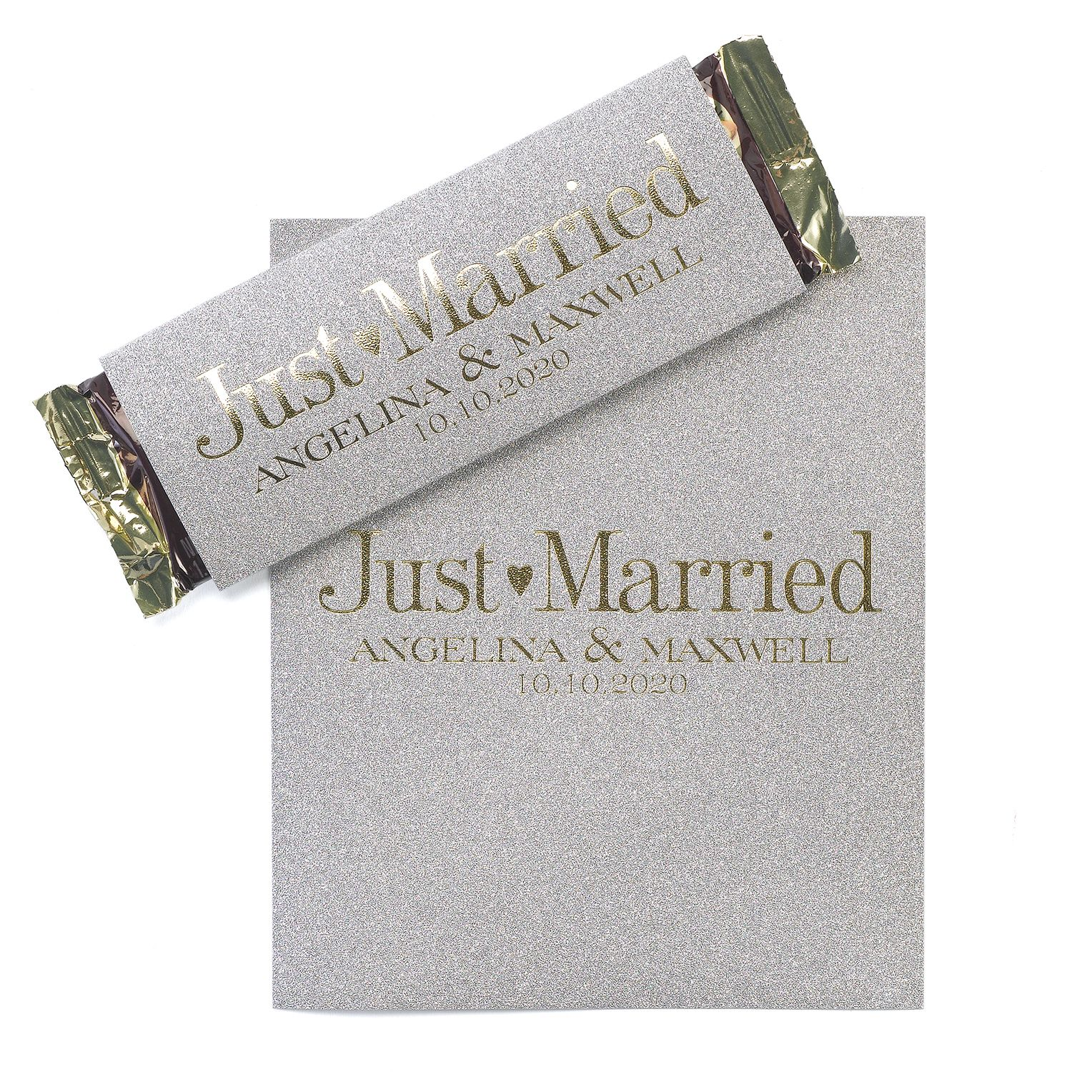 Sweetest Love Silver Glitter Candy Bar Wrapper personalized wedding ...