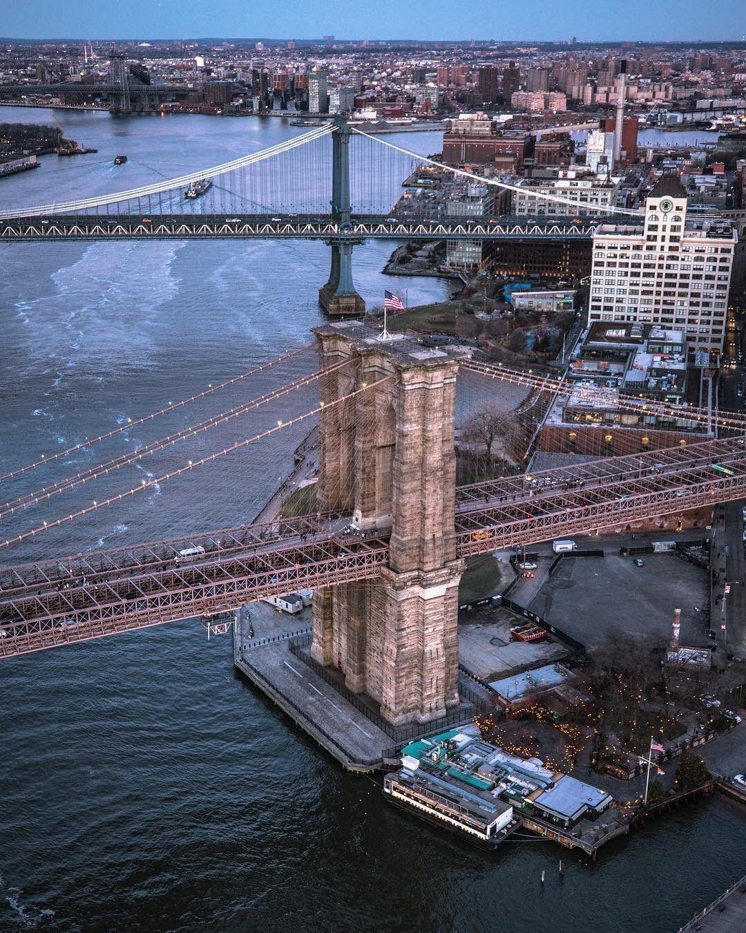 Brooklyn Staten Island Car: Brooklyn And Manhattan Bridges! The Structure In The