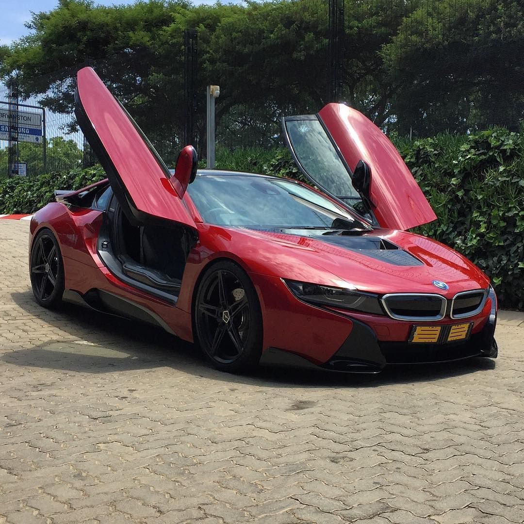 Bmw I8: Check Out This Protonic Red BMW I8 Fitted With AC