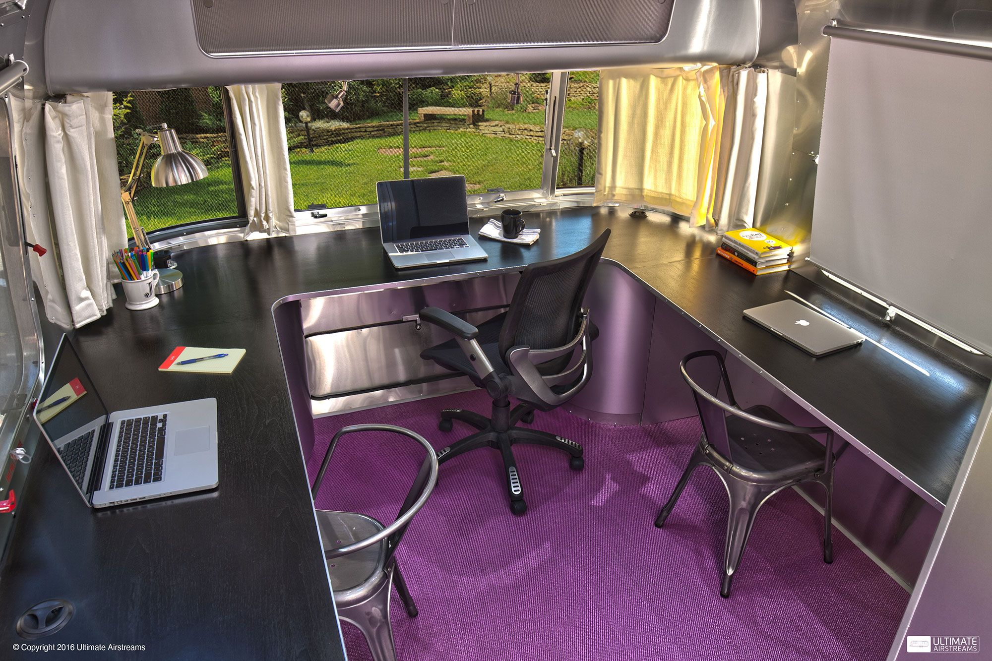 Hybrid mobile office ultimate airstreams airstream interior airstream renovation cargo trailers airstream