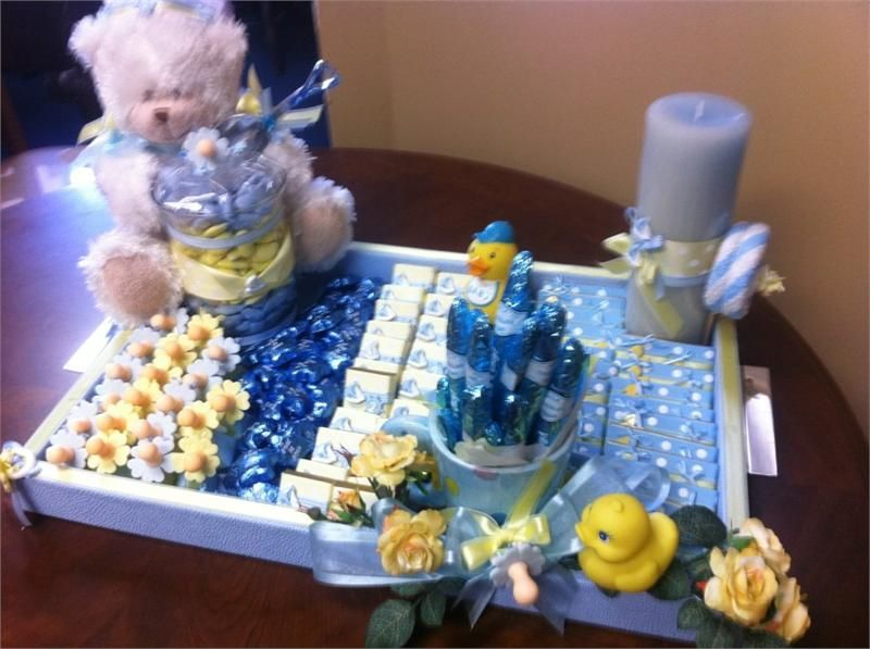 Baby Tray Decoration Decorated Tray With Fancy Ribbons Charms Accessories For