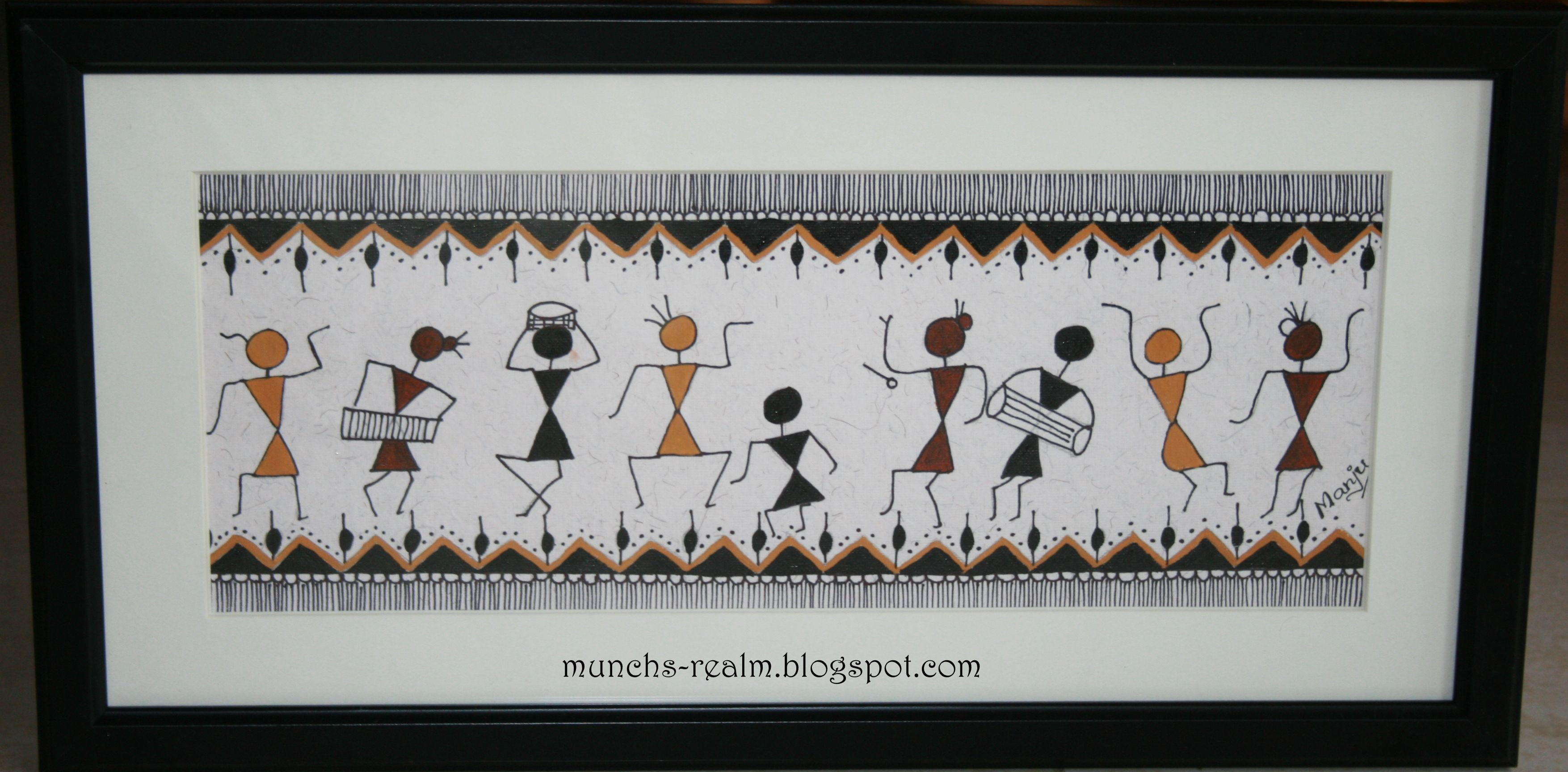 Warli Paintings Images Google Search Pottery Painting Designs Simple Canvas Paintings Worli Painting