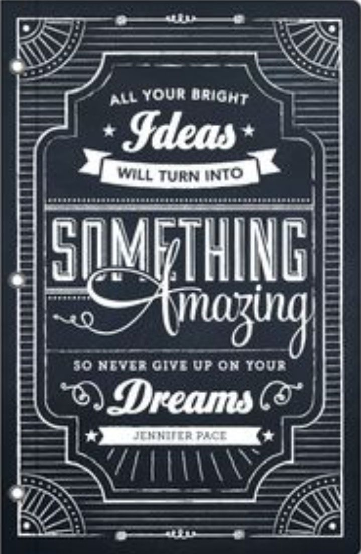 journals chalkboard dreams by jennifer pace i am in love with this message and design it is bewitching - Chalkboard Designs Ideas