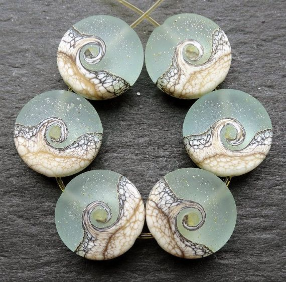 Lampwork Glass Beads 015 Sprees 6 Twilight by beadgoodies on Etsy