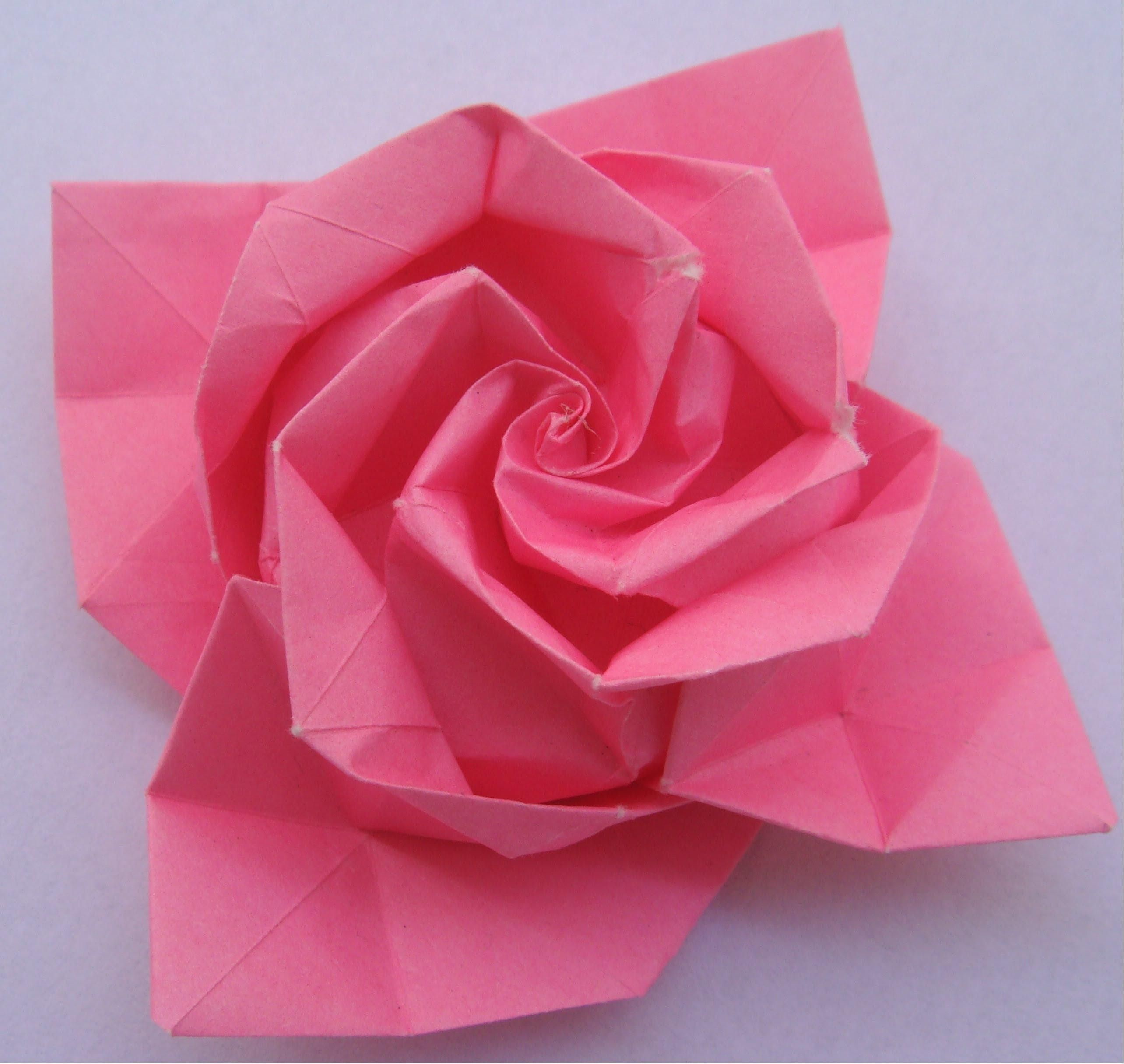 Origami Instructions Rose Step Step Artesanatos Pastas