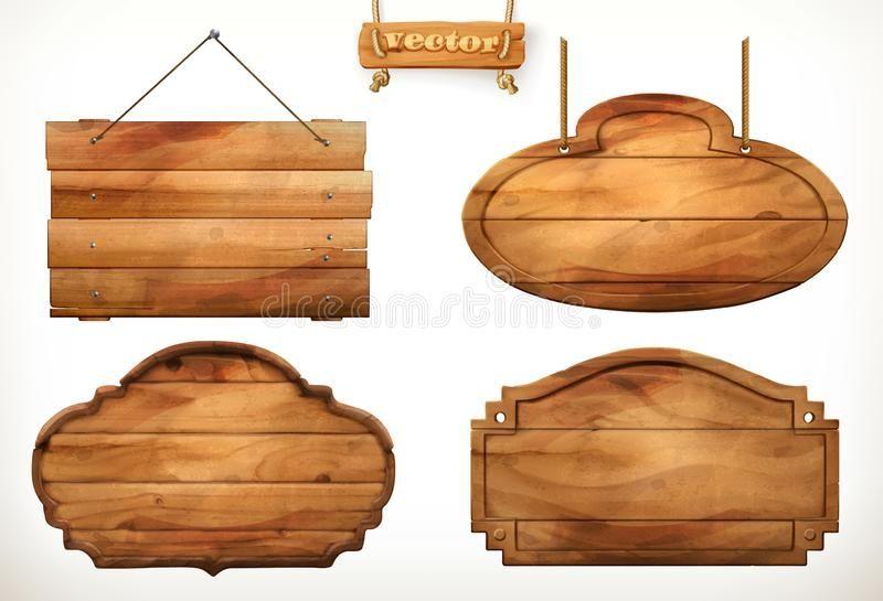 Wooden Board Old Wood Vector Set On White Background Ad Wood Board Wooden Vector Background Ad Madeira Antiga Nomes Em Madeira Madeira