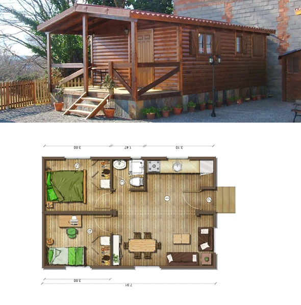 Resultado de imagen para dise o de caba as de madera - Diseno casas rusticas ...