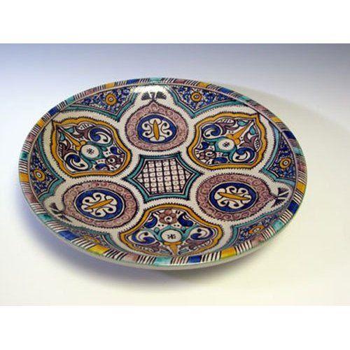Moroccan Ceramic Serving Plate 2267: Amazon.com: Home & Kitchen