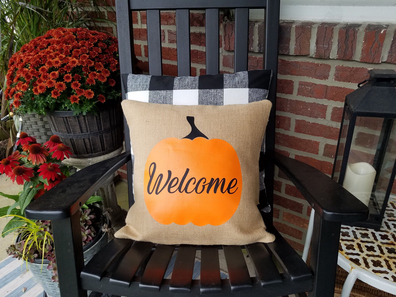 Fall outdoor decor pumpkin happy fall yall farmhouse