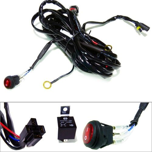 Wire Harness Relay with Switch for LED Lighting Led