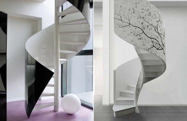Escada caracol   Inspiração   Blog de Decoração LojasKD
