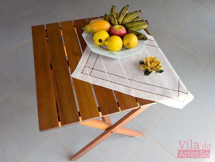 Mesa renovada e pronta para o uso