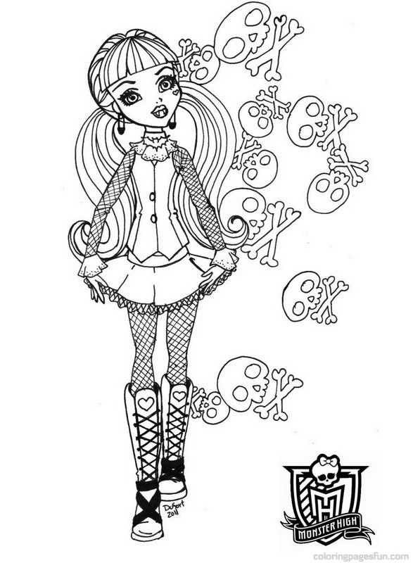 monster high coloring pages | Monster High Coloring Pages 46 - Free ...
