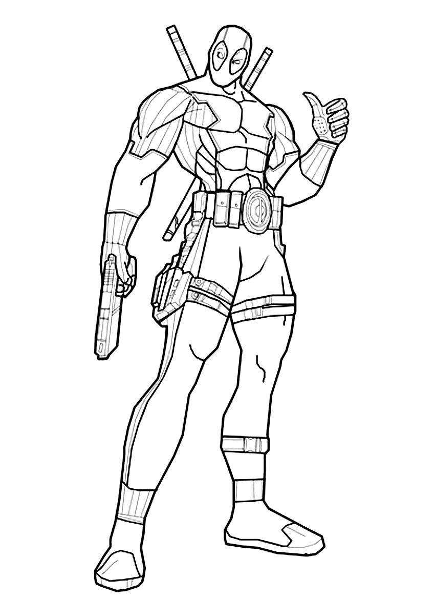 Deadpool Coloring Page | quilts | Pinterest | Basteln