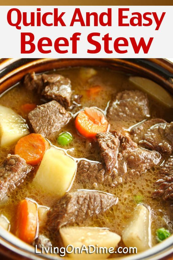 Photo of Quick And Easy Beef Stew Recipe – Mom's Crockpot Beef Stew