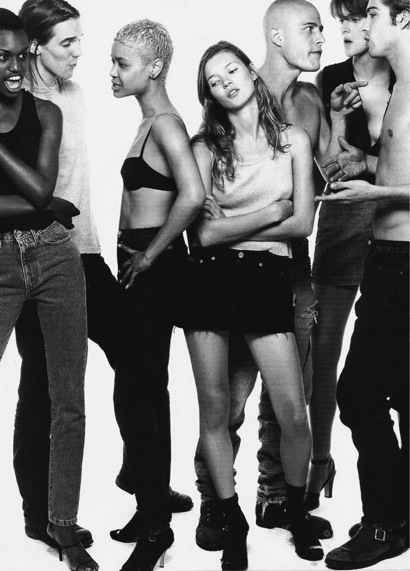 Calvin Klein 1990s. Youthful and energetic - that's what I see in this picture! And i like she - Kate Moss!