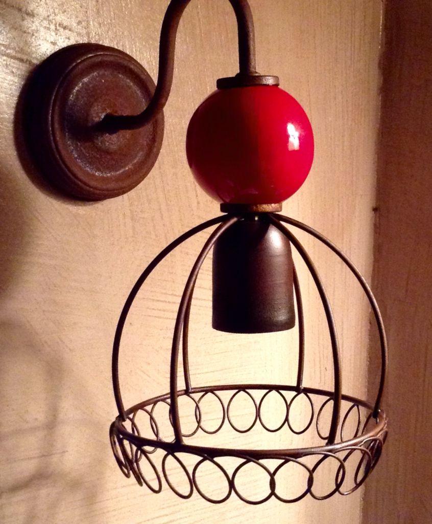 Aplique De Pared Con Esfera De Ceramica Lamparas Artesanales Apliques De Pared Lamparas Para Bano