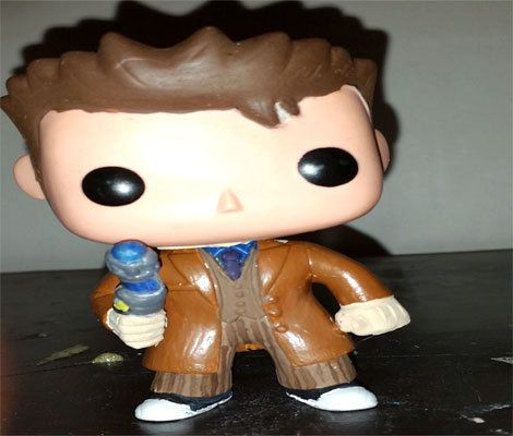 Custom Vinyl Pop Figure Of The The Tenth Doctor In His Brown Suit Great For Your Doctor Who Collection And Looks Gre Pop Vinyl Figures Vinyl Figures Pop Vinyl