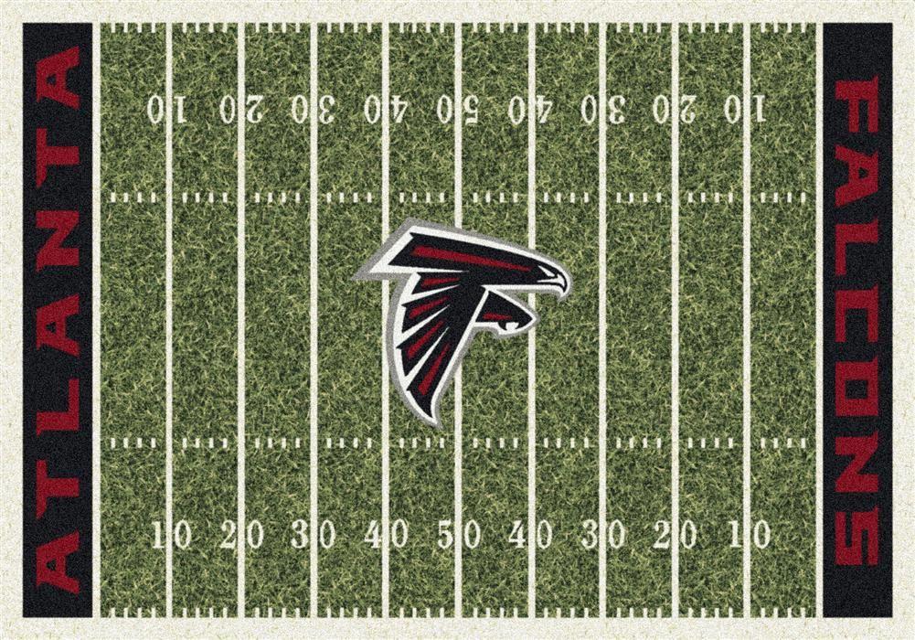 Atlanta Falcons Football Field Rug This Milliken Falcons Rug Features A Detailed Football Field Layou Football Rug Minnesota Vikings Football Vikings Football