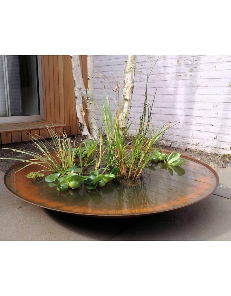 corten steel pond on corten water bowl google search container water gardens water plants modern garden corten water bowl google search