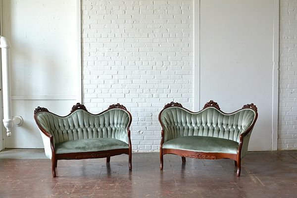 The Collection Paisley Jade Vintage Specialty Rentals In Virginia Washington Dc And North Carolina Upholstered Seating Eclectic Furniture Rental Furniture