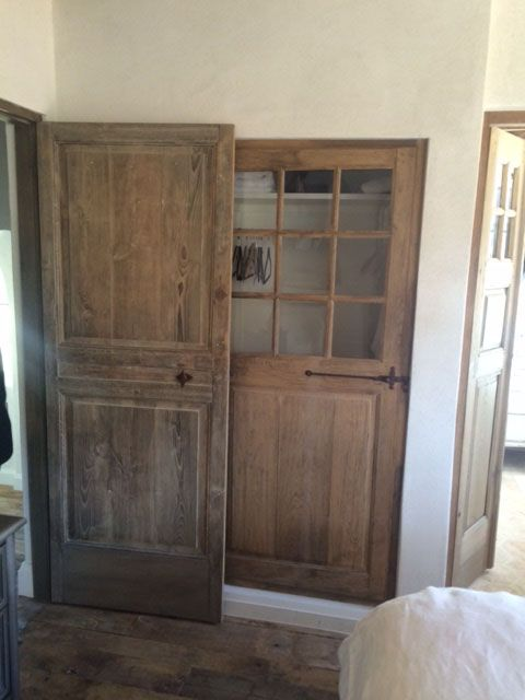 porte d 39 interieure ancienne en ch ne st r my de provence rangement. Black Bedroom Furniture Sets. Home Design Ideas